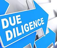 Image of a due diligence sign as what might be needed for a 1031 exchange
